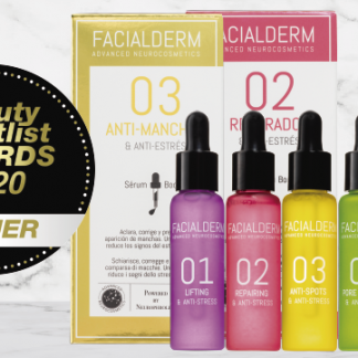 Facialderm, winner of the Beauty Shortlist Awards as an innovative brand